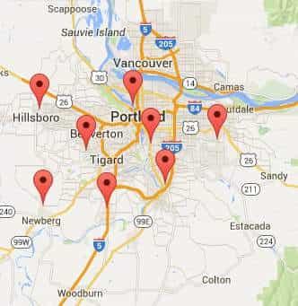 Garage door repair service areas Portland